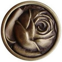 Notting Hill NHK-280-AB, Mckenna's Rose Knob in Antique Brass, English Garden
