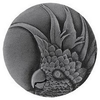 Notting Hill NHK-327-AP-R, Cockatoo Knob in Antique Pewter(Large - Right Side), Tropical