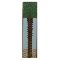 Notting Hill NHP-322-AB-B, Royal Palm Pull in Antique Brass/Pale Blue  (Vertical), Tropical