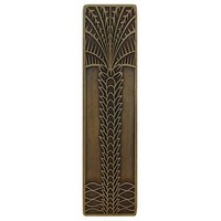 Notting Hill NHP-322-AB, Royal Palm Pull in Antique Brass (Vertical), Tropical