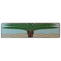 Notting Hill NHP-323-AP-B, Royal Palm Pull in Antique Pewter/Pale Blue (Horizontal), Tropical