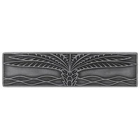 Notting Hill NHP-323-AP, Royal Palm Pull in Antique Pewter (Horizontal), Tropical