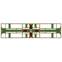 Notting Hill NHP-617-AB-A, Prairie Tulips Pull in Antique Brass/Spring Green, Arts & Crafts