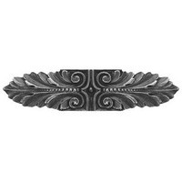 Notting Hill NHP-625-AP, Opulent Scroll Pull in Antique Pewter, Classic