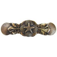 Notting Hill NHP-634-AB, Seaside Collage Pull in Antique Brass, Tropical