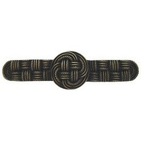 Notting Hill NHP-639-AB, Classic Weave Pull in Antique Brass, Classic