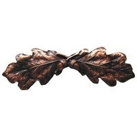 Notting Hill NHP-644-AC, Oak Leaf Pull in Antique Copper, Leaves