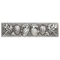 Notting Hill NHP-651-BP, Autumn Squash Pull in Brilliant Pewter, Kitchen Garden