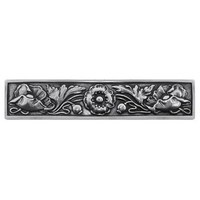 Notting Hill NHP-675-BP, Poppy Pull in Brilliant Pewter, English Garden