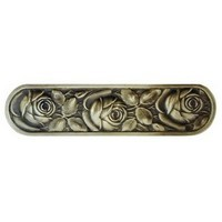 Notting Hill NHP-680-AB, Mckenna's Rose Pull in Antique Brass, English Garden