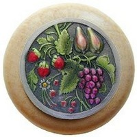 Notting Hill NHW-713N-PHT, Tuscan Bounty Wood Knob in Hand-Tinted Antique Pewter/Natural Wood, Tuscan