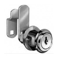 CompX C8055-KD-14A Cam Lock, 90° Cam Turn, Flush or Lipped/Overlay, Cylinder 1-7/16, Max 1-1/8, Keyed Different, Bright Nickel