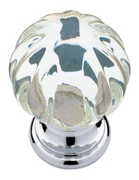 Liberty Hardware P30104-CHC-C, Knob, 1-1/4 dia., Chrome & Clear