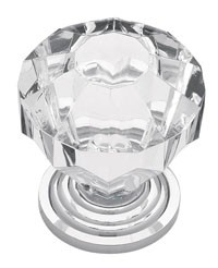 Liberty Hardware P30122-CHC-C, Knob, 1-1/4 dia., Chrome & Clear