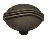 Liberty Hardware P84302-OB-C, Knob, 1-1/4 dia., Distressed Oil Rubbed Bronze