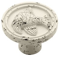 Liberty Hardware PBF659C-254-C, Angelfish Knob, 1-3/8 dia., Vintage Antique White