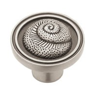 Liberty Hardware PBF660-BSP-C, Nautilus Shell Knob, 1-3/8 dia., Brushed Satin Pewter