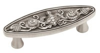 Liberty Hardware PBF663-BSP-C, Pull, Centers 3in, Brushed Satin Pewter, Seaside Cottage