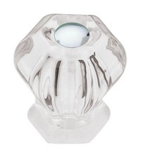 Liberty Hardware PN0238-CLR-C, Knob, Length 1in, Clear, Design Facets