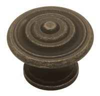 Liberty Hardware PN0407-OB-C, Knob, 1-3/8 dia., Distressed Oil Rubbed Bronze