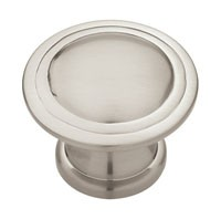 Liberty Hardware PN0408-SN-C, Knob, Length 1-1/4, Satin Nickel, Modern Cable
