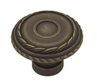 Liberty Hardware PN1340-OB-C, Knob, 1-7/16 dia., Distressed Oil Rubbed Bronze