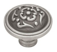 Liberty Hardware PN1510-BSP-C, Knob, 1-1/2 dia., Brushed Satin Pewter