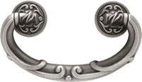 Liberty Hardware PN1511-BSP-C, French Lace Bail Pull, Centers 2-1/2 (64mm), Brushed Satin Pewter