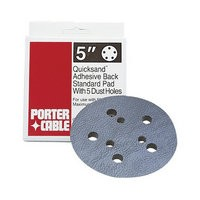 Black & Decker 13901, Sanding Pad, Porter Cable 5in 5-Hole, PSA, Contour, Fits Porter Cable 333 & 334