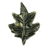 Sierra Lifestyles 681213, Knob, Maple Leaf Knob, Bronzed Black, Rustic Lodge
