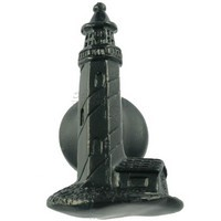 Sierra Lifestyles 681221, Knob, Lighthouse Knob, Black, Coastal