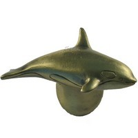Sierra Lifestyles 681239, Knob, Orca Knob, Right Facing, Antique Brass, Coastal