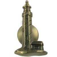 Sierra Lifestyles 681242, Knob, Lighthouse Knob, Antique Brass, Coastal