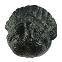 Sierra Lifestyles 681248, Knob, Turkey Knob, Black, Rustic Lodge