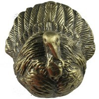 Sierra Lifestyles 681249, Knob, Turkey Knob, Antique Brass, Rustic Lodge