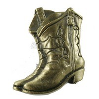 Sierra Lifestyles 681253, Knob, Boots Knob, Antique Brass, Western