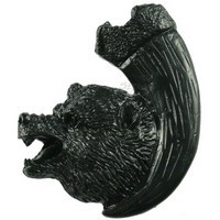 Sierra Lifestyles 681264, Knob, Bear with Claw, Left Facing, Black, Rustic Lodge