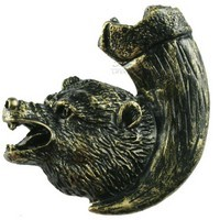 Sierra Lifestyles 681267, Knob, Bear with Claw, Left Facing, Bronzed Black, Rustic Lodge