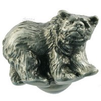 Sierra Lifestyles 681295, Knob, Grizzly Knob, Pewter, Rustic Lodge