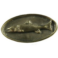 Sierra Lifestyles 681317, Knob, Fish Mount Knob, Antique Brass, Rustic Lodge