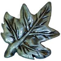 Sierra Lifestyles 681321, Knob, Maple Leaf Knob, Pewter, Rustic Lodge