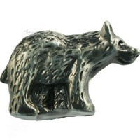 Sierra Lifestyles 681381, Knob, Bear Knob, Right Face, Pewter, Rustic Lodge