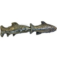 Sierra Lifestyles 681405, Pull, Fish Pair Pull, Pewter, Rustic Lodge