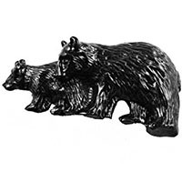 Sierra Lifestyles 681409, Two Bears Pull, Black, Rustic Lodge
