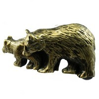 Sierra Lifestyles 681410, Pull, Bear Pull, Antique Brass, Rustic Lodge