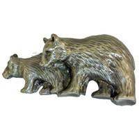 Sierra Lifestyles 681411, Pull, Bear Pull, Pewter, Rustic Lodge