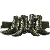 Sierra Lifestyles 681478, Pull, Boots Pull, Bronzed Black, Western