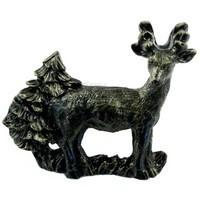 Sierra Lifestyles 681550, Pull, Standing Deer Pull, Bronzed Black, Rustic Lodge