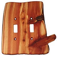 Sierra Lifestyles 682170, Switchplate, Rustic, 2 Toggle, Juniper Plate
