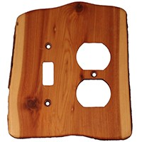 Sierra Lifestyles 682550, Outlet Plate, Standard, Rustic, Toggle / Duplex, Juniper Plate